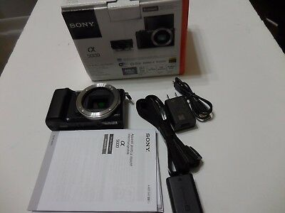 Sony Alpha a5000 20.1 MP SLR Camera plus Strap Charger Battery **NO LENS**