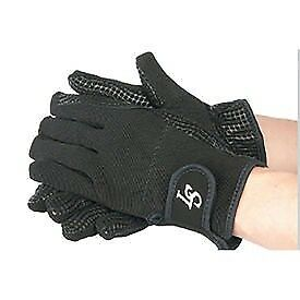 Riding gloves Lamicell with grip, anti-slip black GR l