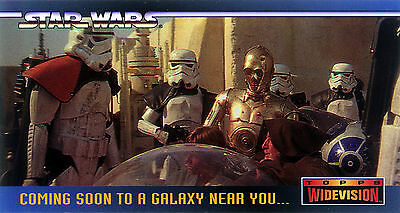 Star Wars A NEW HOPE WIDEVISION PROMO CARD SWP1 Topps 1994