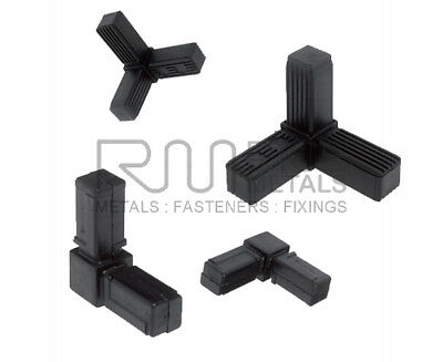Square Tube Connectors / Pipe Metal Box Section Plastic Tube Fittings Square