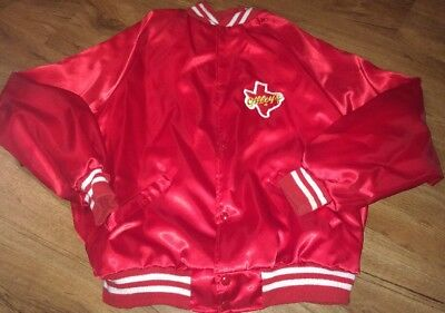 Vintage Original Red Gilley's Satin Jacket Large Early 80's Very Rare