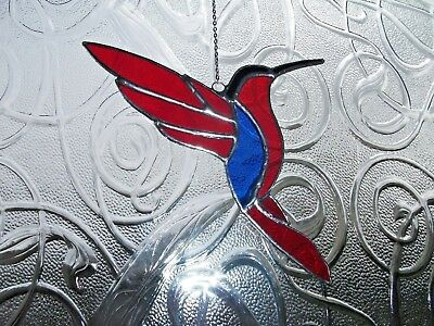 Handmade Stained glass Humming Bird Suncatcher
