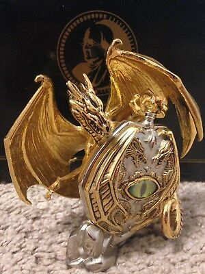 Franklin Mint, Vision Of The Golden Dragon, Pocket Watch W/ Stand Michael Whelan