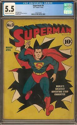Superman #9 CGC 5.5 (OW-W)
