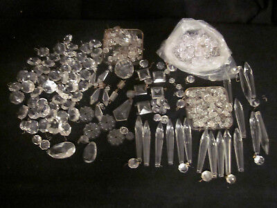 Vintage Mixed Lot of  Crystal glass chandelier Prisms