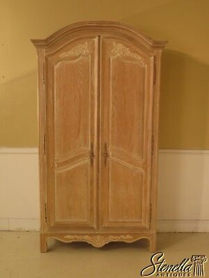 43439E:  PENNSYLVANIA HOUSE Country French White Washed Oak TV Armoire