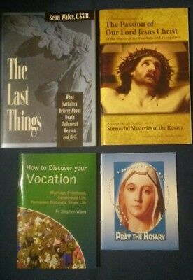 4 Last Things, Rosary, Passion, Catholic Discernment - Lot of 4 Booklets