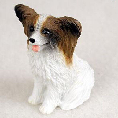PAPILLON (BROWN WHITE) TINY ONES DOG Figurine Statue Resin Pet Lovers Gift