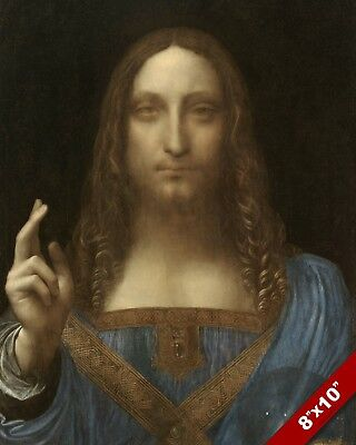 Salvator Mundi Leonardo Da Vinci Davinci Art Painting Real Canvas 8X10 Print