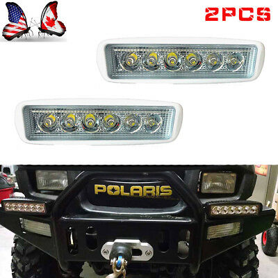 18W Pair 6 Inch Single Row LED Work Light Bar Spot Offroad Driving Fog Lamp SUV
