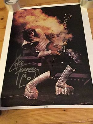 KISS Ace Frehley Autogramm ALIVE II  Guitar Carnival Poster signiert Autograph