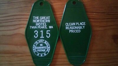 "TWIN PEAKS ""Great Northern Hotel"" keychain  Room 315 FREE SHIPPING"