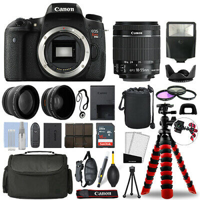 Canon Rebel T6s DSLR Camera with 18-55mm STM+ 16GB 3 Lens Ultimate Accessory Kit