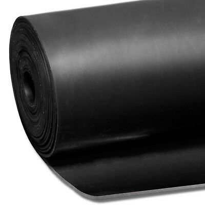 Smooth Matt Black Rubber Flooring Matting for Garage, Van or Car Roll Mat
