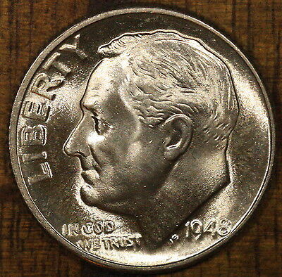 1963 P 90/% Silver Roosevelt Dime BU Full Torch Bands FT FB with FREE SHIPPING