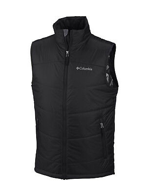 """New Mens Columbia """"Shimmer Me Timbers"""" Omni-Heat / Shield Insulated Vest"""