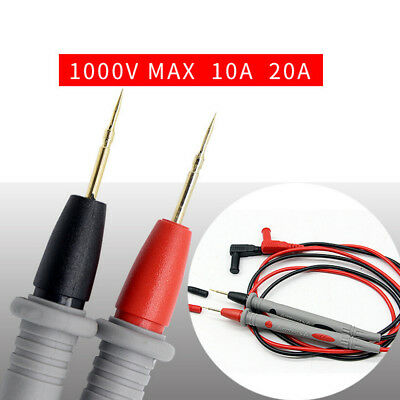 1 Pair Universal Needle Tip Digital Multimeter Probe Test Lead Wire Pen Cable US