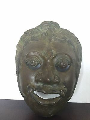 Antique Indonesian Bronze Mask