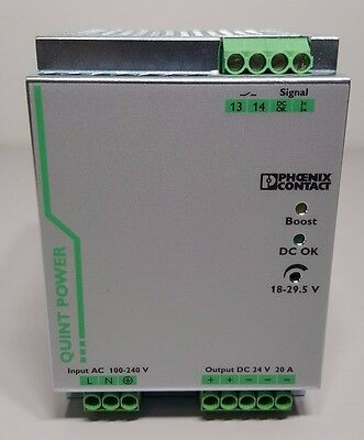 Phoenix Contact 2866776 24 VDC 20 Amp Power Supply QUINT-PS/1AC/24DC/20 NIB Used