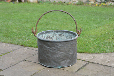 old antique brass cooking pot metal cauldron  Christmas tree pot- FREE POSTAGE