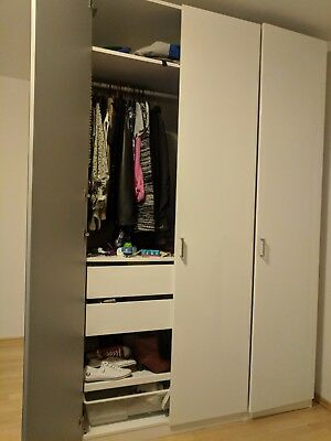 ikea pax kleiderschrank extra hoch 236 x 100 x 58 cm weiss neu und ovp eur 80 00 picclick de. Black Bedroom Furniture Sets. Home Design Ideas