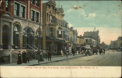 Mt. Vernon NY East First St. c1910 Postcard