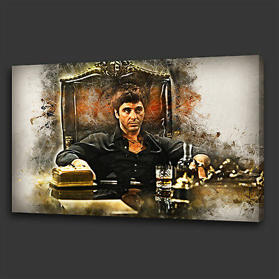 cd016834caa Tony Montana Scarface Film Modern Wall Art Canvas Print Picture Ready To  Hang