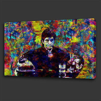 23631057c75 Tony Montana Scarface Film Colourful Wall Art Canvas Print Picture Ready To  Hang