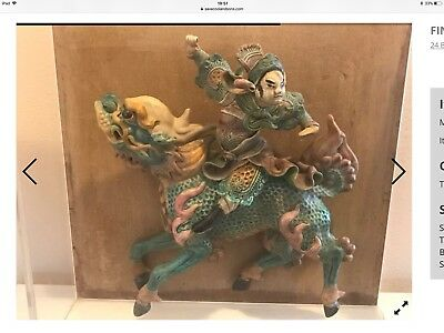 Chinese Temple Tile Antique.
