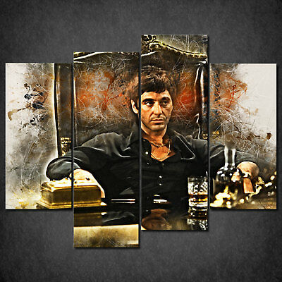 5cb2a4cb758 The Scarface Tony Montana Cascade Canvas Print Wall Art Picture Ready Hang