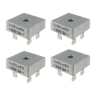 4X 50A 1000V Metal Case Single Phases Diode Bridge Rectifier KBPC5010 C9F9