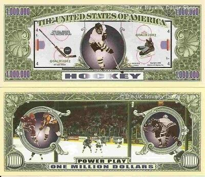 Ice Hockey Power Play One Million Dollar Bills x 4