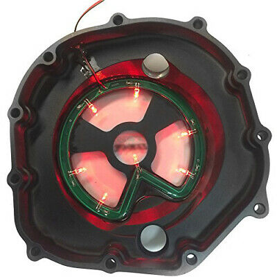 RED LED Engine Clutch Cover See Through For Kawasaki Zx14R Zzr1400 2006-2014 BLA