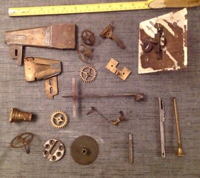 Antique Clock Clock Parts Brass Less Usual Selection Ex Clockmakers Spare Parts