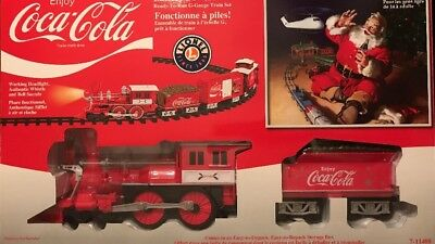 Lionel Coca-Cola Christmas Train Set  G Scale Holiday Whistle Bell 7-11488
