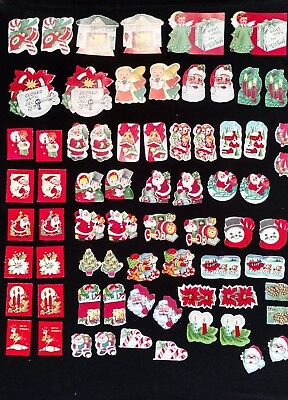 Vintage Lot of 70+ Gummed Christmas Seals Stickers 40s & 50s