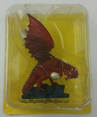 Beasts & Beings Hand Painted Red Dragon Statue Figure Resin Model - New & Sealed