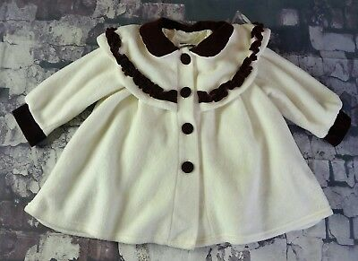 Gorgeous VINTAGE Velvet Accents Infant Toddler Little Girls Swing Coat