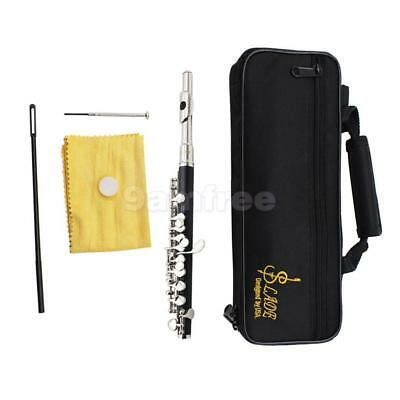 Silver LADE C Key Piccolo Cupronickel w/ Cleaning Cloth Stick for Band Gift