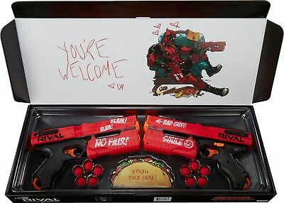Nerf Rival DEADPOOL KRONOS XVIII-500 Dual Pack Red 2017 Marvel authentic genuine