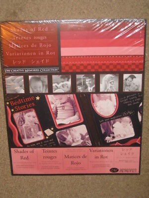 """NEW Creative Memories 10x12"""" Shades Of Red Scrapbooking Paper 12 sheets"""