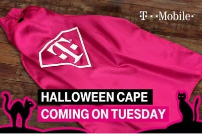 New T-Mobile Tuesdays Halloween Superhero Pink Glow In Dark Cape