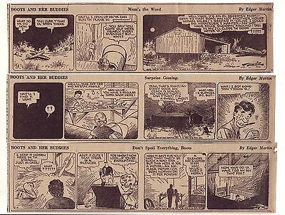 Boots & Her Buddies by Martin - 27 large daily comic strips - Complete July 1940