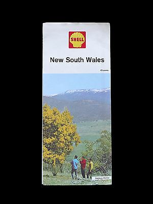 Vintage c1960s SHELL colour road map of New South Wales