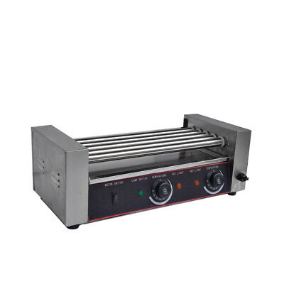 New Commercial Hot Dog 5 Roller Grilling Machine 12 12 Hot Dogs 1000W