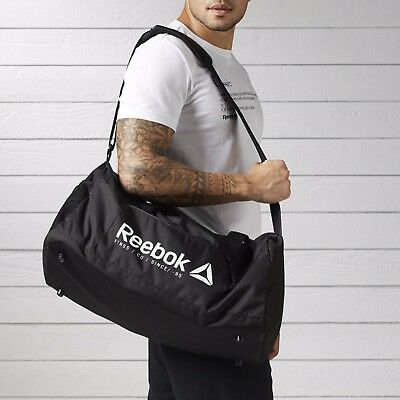 Reebok Foundation Medium Grip Duffel Bag Fitness Training Black 40 L