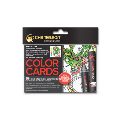 Chameleon Color Cards - Tattoo - With Shading & Colouring Guides