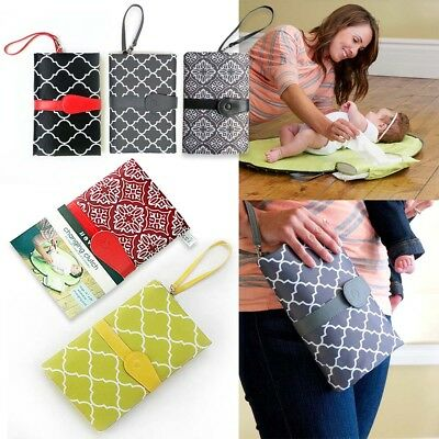 Baby Portable Folding Diaper Travel Changing Pad Waterproof Mat Bag Storage NEW