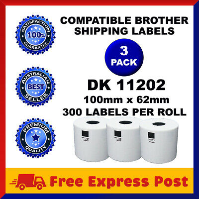 3 Rolls Compatible Brother DK-11202 White Label for QL-570 QL-700