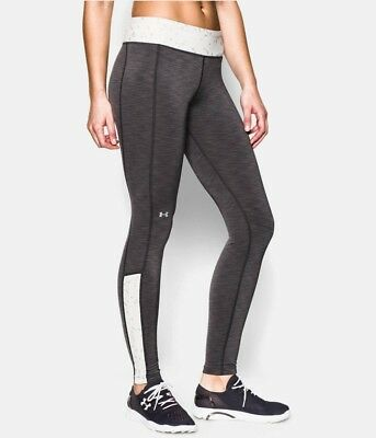 Under Armour ColdGear Cozy Shimmer Ladies Long Running/Yoga Leggings grey